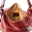 イタリア製柔らかい本革2wayリュック・ショルダーバッグ、レッド、赤、詳細1