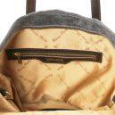 イタリア製ヴィンテージ加工カーフレザーの2WAY柔らかいトートバッグANNIE 、グレイ、灰色、詳細2