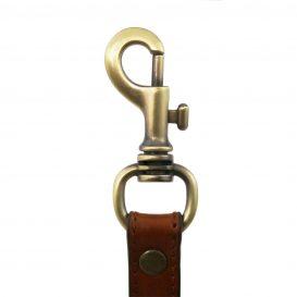 イタリア製本革ベジタブルタンニンレザーのビジネスバスバッグ替えショルダーストラップ、ハニー、キャメル、コニャック、詳細1