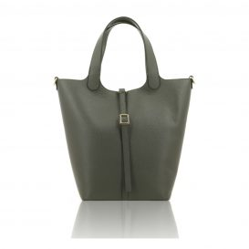 Gray Shoulder Bag With Detachable Inside Compartment