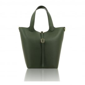 Olive Green Shoulder Bag With Detachable Inside Compartment