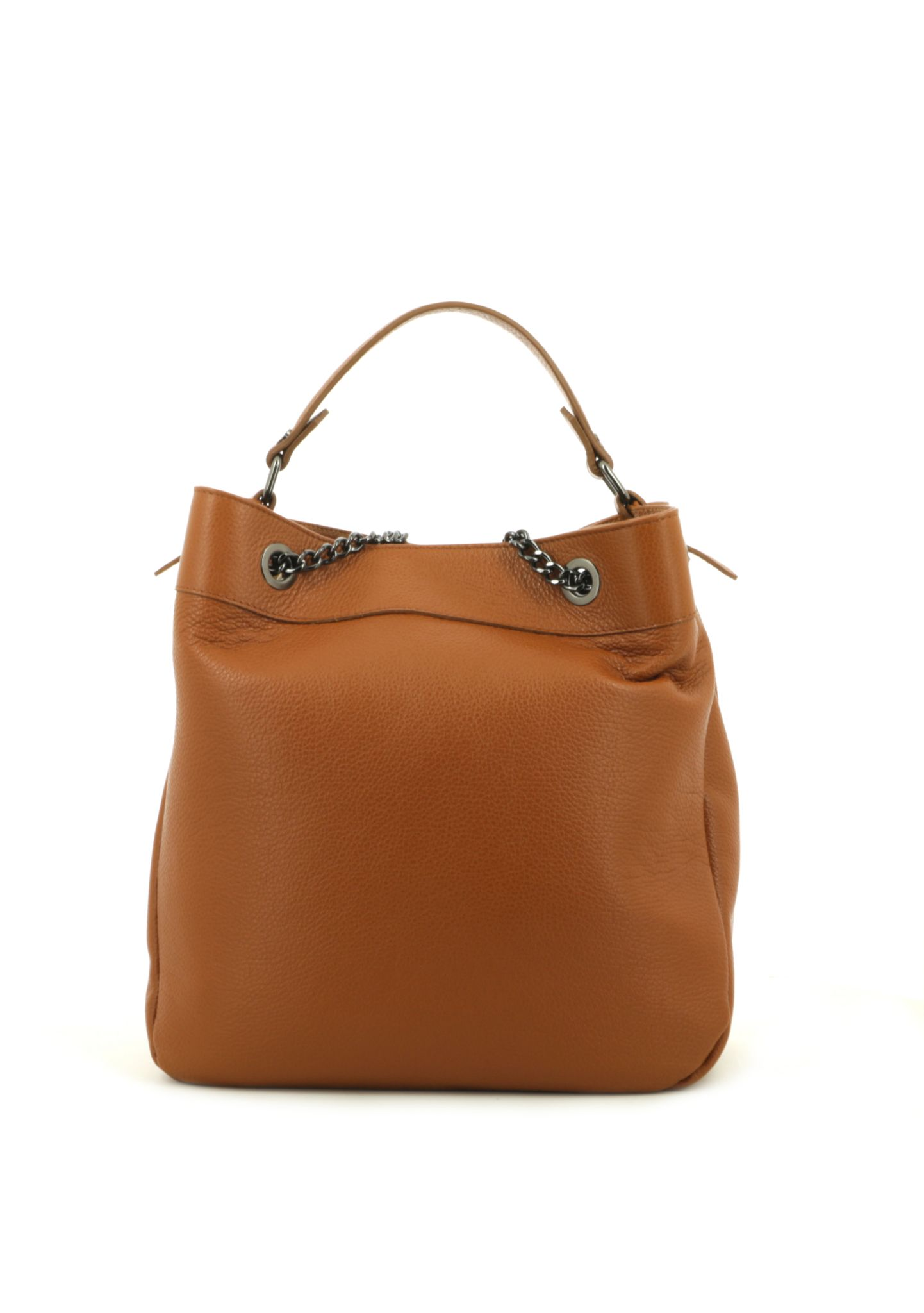 Cognac Shoulder Bag With Chain Strap 033 detail 3