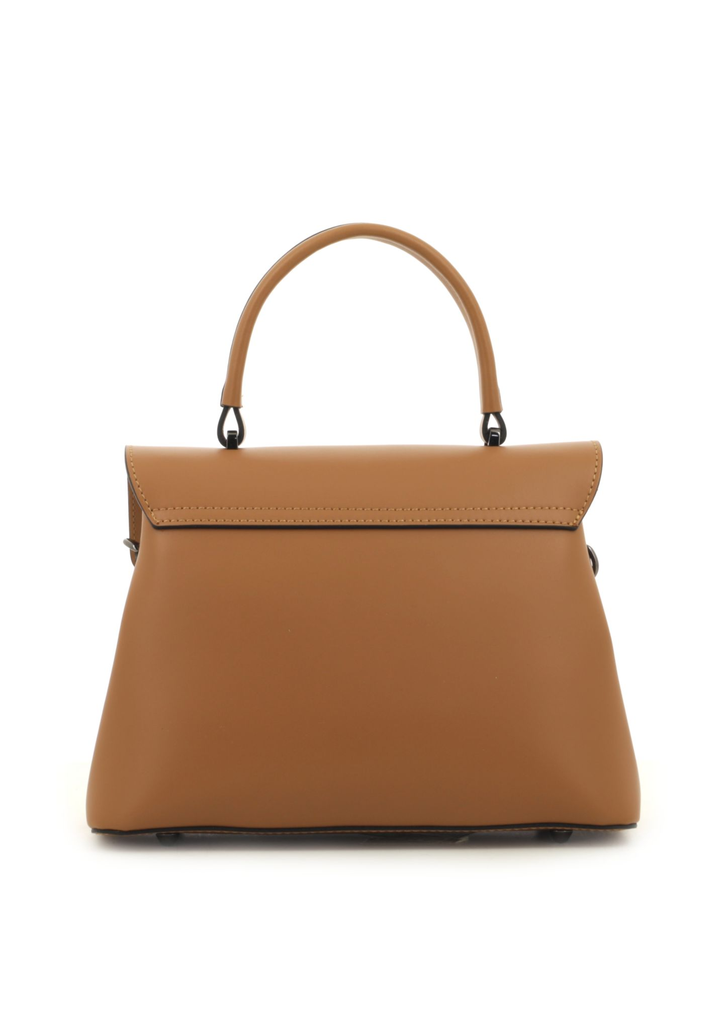 Cognac Ruga Leather Handbag With Detachable Strap 034 detail 3