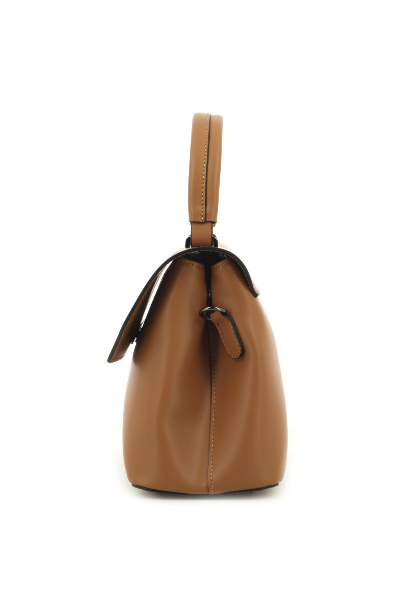 Cognac Ruga Leather Handbag With Detachable Strap 034 detail 4