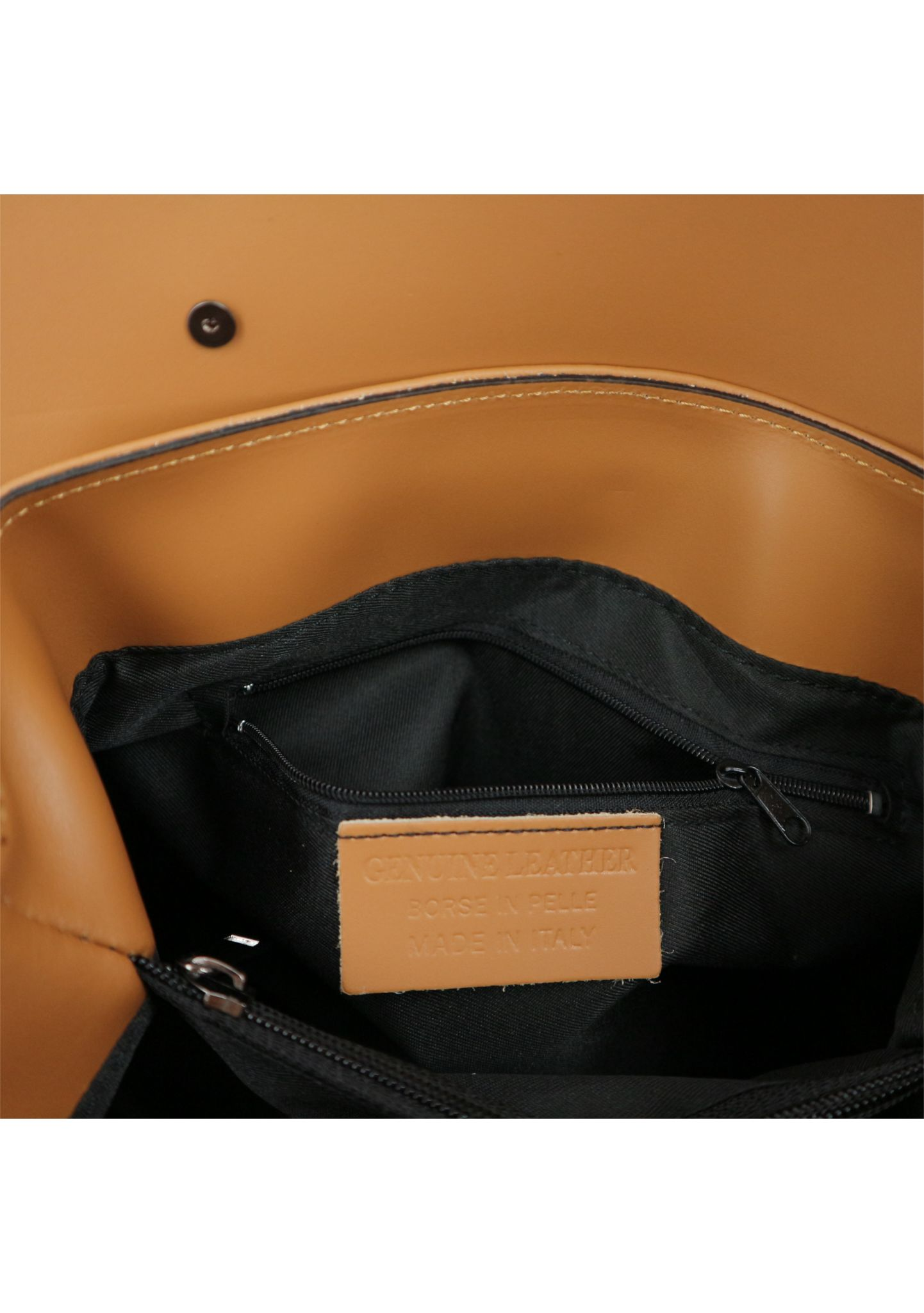 Cognac Ruga Leather Handbag With Detachable Strap 034 detail 7