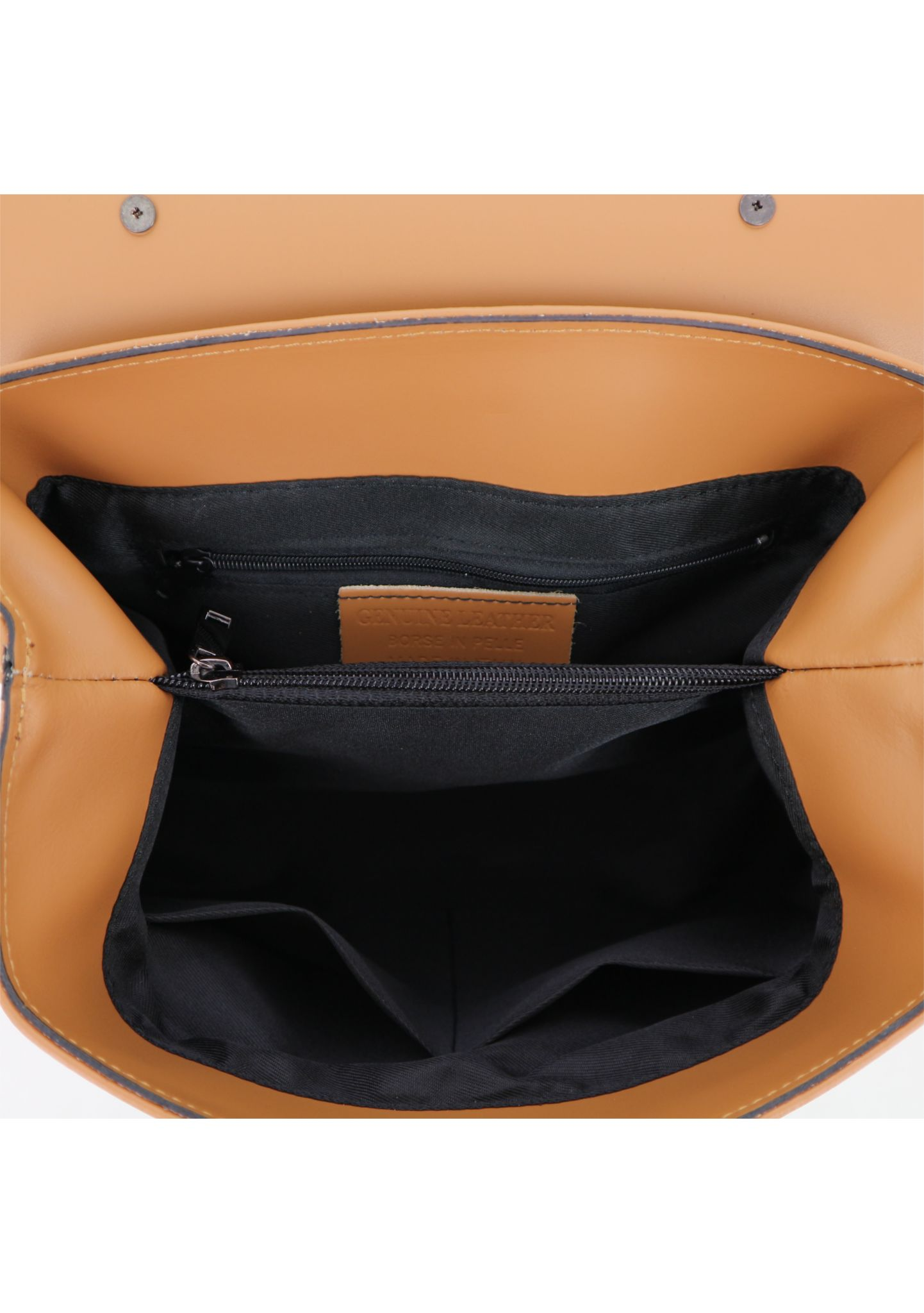 Cognac Ruga Leather Handbag With Detachable Strap 034 detail 8