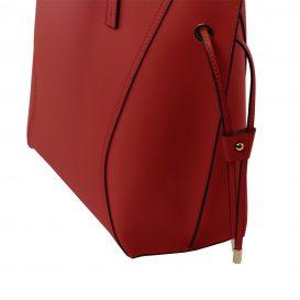 イタリア製NEMESI ルーガ・カーフレザーのショルダーバッグ、レッド、赤、詳細3