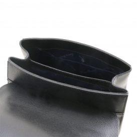 イタリア製サフィアーノレザー2WAYハンドバッグ TL BAG、ブラック、詳細4