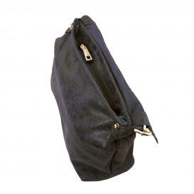 イタリア製ヴィンテージ加工レザーの2WAYハンドバッグ TL Bag、ダークブルー、詳細5