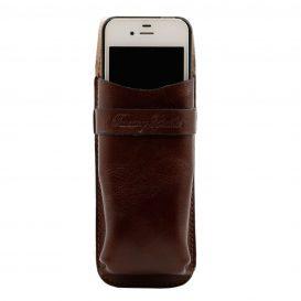 イタリア製ベジタブルタンニンレザーのサングラス&携帯電話ケース(小)詳細4
