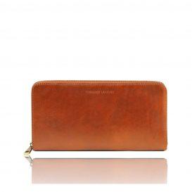イタリア製本革ベジタブルタンニンレザーのパスポートケース&長財布、ハニー、キャメル、コニャック