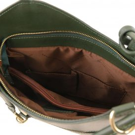 イタリア製サフィアーノレザー・リュック&ショルダー2way バッグ PATTY、グリーン、詳細5