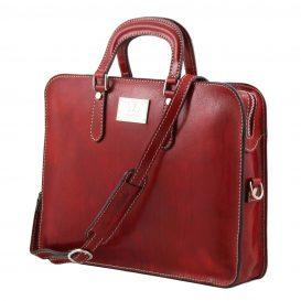 イタリア製ベジタブルタンニンレザーのビジネスバッグ ALBA、詳細1