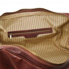 イタリア製ベジタブルタンニンレザーのボストンバッグ LISBONA(Lサイズ)、詳細4