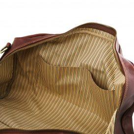 イタリア製ベジタブルタンニンレザーのボストンバッグ LISBONA(Lサイズ)、詳細5