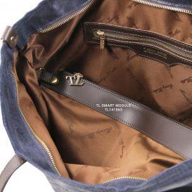 イタリア製ヴィンテージ調レザーの2WAYトートバッグ ANNIE、モジュール使用イメージ2