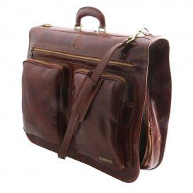 イタリア製ベジタブルタンニンレザーの旅行/衣装バッグ TAHITI、詳細1