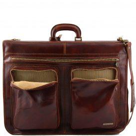 イタリア製ベジタブルタンニンレザーの旅行/衣装バッグ TAHITI、詳細2