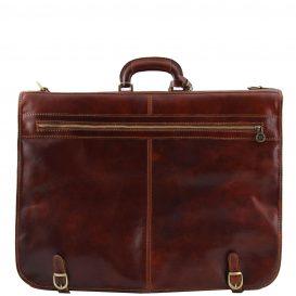 イタリア製ベジタブルタンニンレザーの旅行/衣装バッグ TAHITI、詳細3
