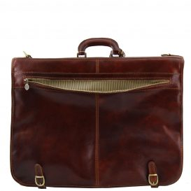 イタリア製ベジタブルタンニンレザーの旅行/衣装バッグ TAHITI、詳細4