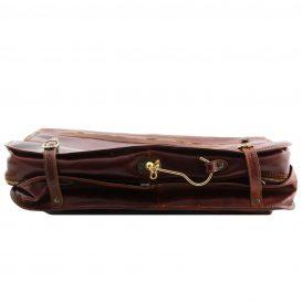 イタリア製ベジタブルタンニンレザーの旅行/衣装バッグ TAHITI、詳細5