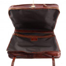 イタリア製ベジタブルタンニンレザーの旅行/衣装バッグ TAHITI、詳細7