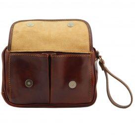 イタリア製ベジタブルタンニンレザーのセカンドバッグ IVAN、詳細2