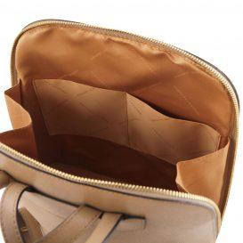 イタリア製サフィアーノレザーのリュック TL BAG、キャラメル、詳細5