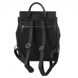 イタリア製シボレザーのリュックバッグ MARGHERITA、ブラック、詳細2