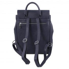 イタリア製シボレザーのリュックバッグ MARGHERITA、ダークブルー、詳細2
