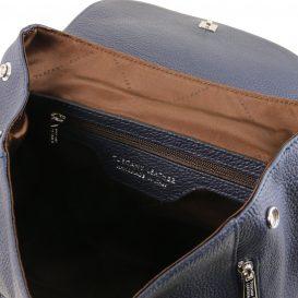 イタリア製シボレザーのリュックバッグ MARGHERITA、ダークブルー、詳細3