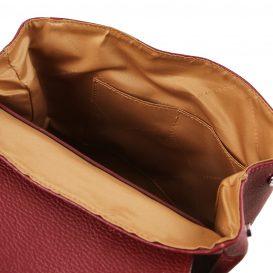 イタリア製シボレザーのリュックバッグ MARGHERITA、レッド、詳細4