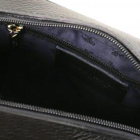 イタリア製シボレザーのショルダーバッグ TL BAG、ブラック、詳細2