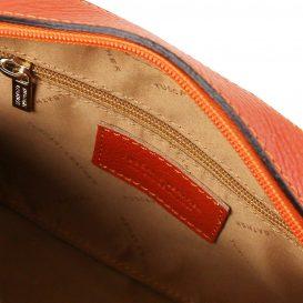 イタリア製シボレザーのショルダーバッグ TL BAG、ブランデー、詳細2