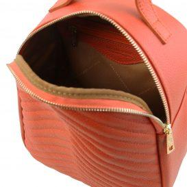 イタリア製シボレザーのキルティング・リュック TL BAG、ブランデー、詳細3