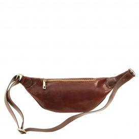 イタリア製ベジタブルタンニンレザーのウェストバッグ、詳細1