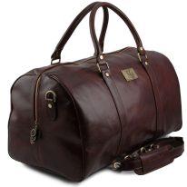 イタリア製ベジタブルタンニンレザーのボストンバッグ裏ポケットつきTL VOYAGER(Lサイズ)、詳細1