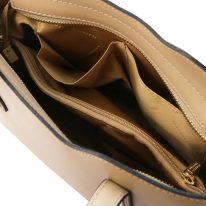 イタリア製スムースレザー2WAYトートバッグSサイズ OLIMPIA、シャンパーニュ、詳細4