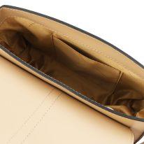 イタリア製スムースレザー2WAYバッグ NAUSICA、シャンパーニュ、詳細4