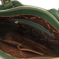 イタリア製サフィアーノレザー2WAYショルダーバッグ TL BAG、フォレストグリーン、詳細2