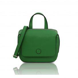 イタリア製サフィアーノレザー3WAYハンドバッグ DALIA、グリーン