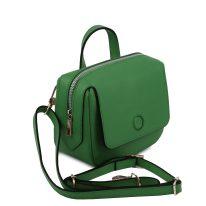 イタリア製サフィアーノレザー3WAYハンドバッグ DALIA、グリーン、詳細1
