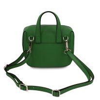 イタリア製サフィアーノレザー3WAYハンドバッグ DALIA、グリーン、詳細2