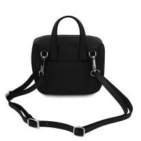 イタリア製サフィアーノレザー3WAYハンドバッグ DALIA、ブラック、詳細2