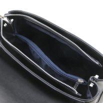 イタリア製スムースレザー2WAYハンドバッグ TL BAG、ブラック、詳細4