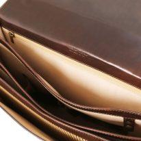 イタリア製ベジタブルタンニンレザーのビジネスバッグ CREMONA、詳細6