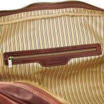 イタリア製ベジタブルタンニンレザーのボストンバッグ表ポケットTL VOYAGER(Lサイズ)、詳細3