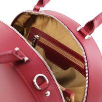 イタリア製スムースレザー2WAYハンドバッグ NINFA、レッド、詳細5