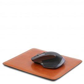 イタリア製ベジタブルタンニンレザーのマウスパッド、ハニー、詳細1
