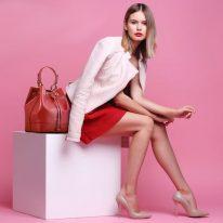 イタリア製サフィアーノレザー2WAY巾着バッグ MINERVA、イメージ